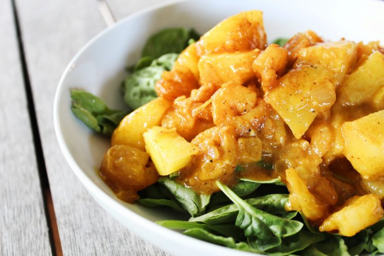 Paleo Coconut Pineapple Shrimp Curry