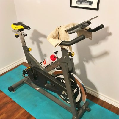 My $200 Peloton set-up (using the Peloton iOS App)